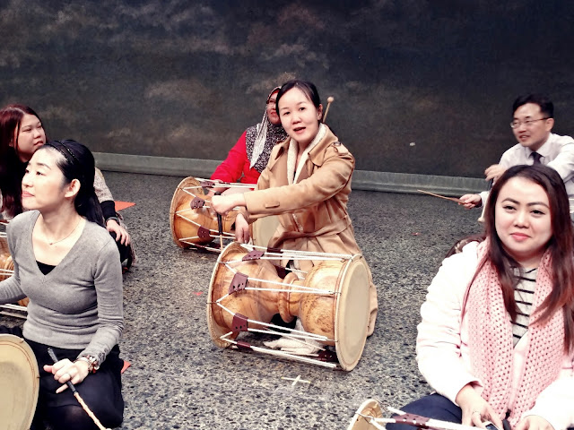 practiced to beat  4 set of rhythm (장단 = Jangdan). | www.meheartseoul.blogspot.com