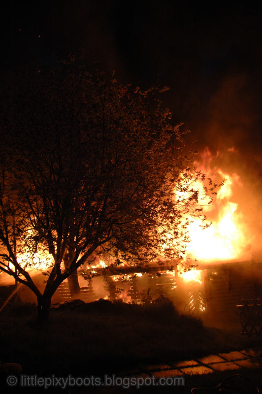 Little Pixy Boots' Blog: More Pictures of our Burning Garage in ...