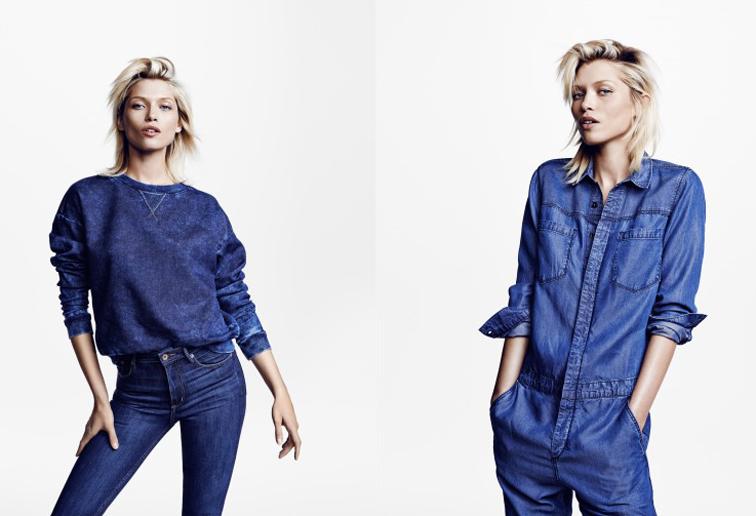 Hana Jirickova for H&M Denim conscious line