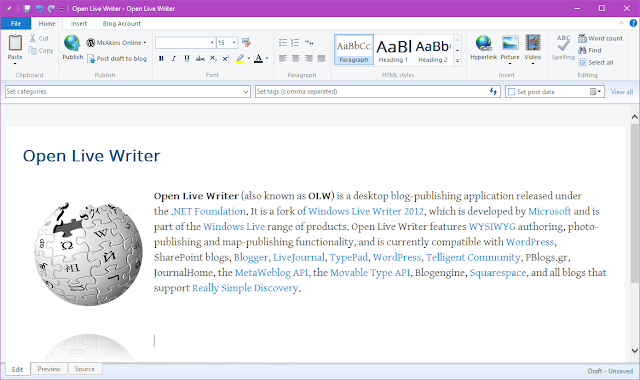 Descarca Open Live Writer 0.5.1.3