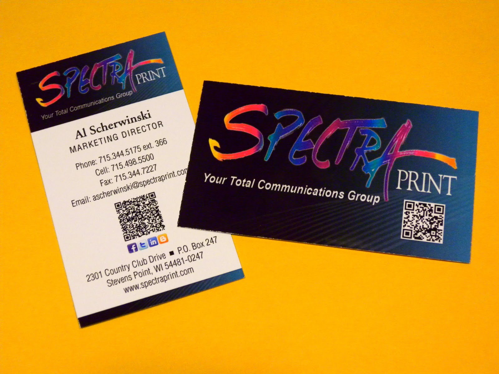 Spectra Now We ve Made Business Cards Smart