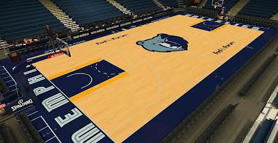 NBA 2K14 Memphis Grizzlies HD Court Mod