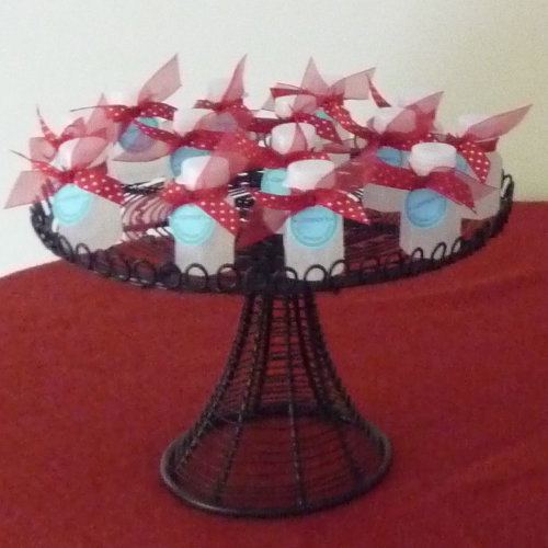 Cake Stands With Ribbon Holes
