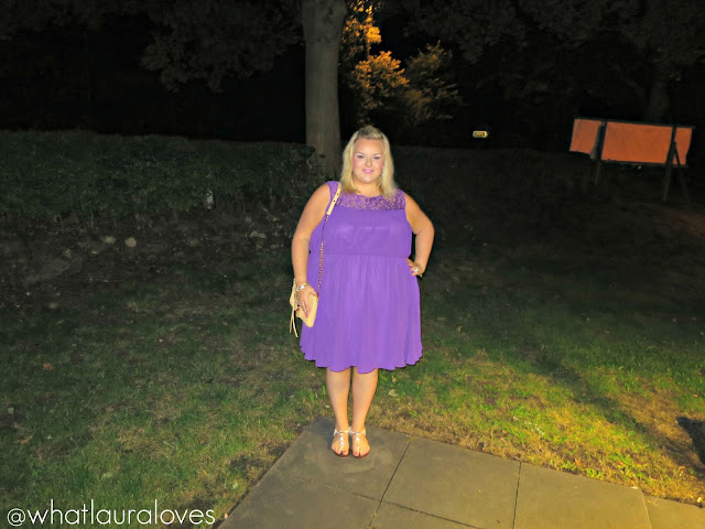 Purple plus size skater dress