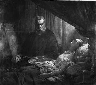Hommage poétique au Tintoret Cogniet+-+Tintoret+peigant+sa+fille+morte