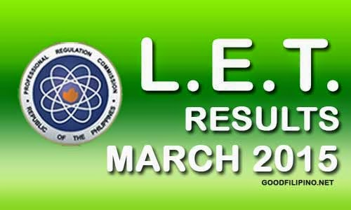 March 2015 LET Results - List of Passers for Professional Teacher March 2015