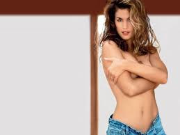 cindy crawford navel exposed
