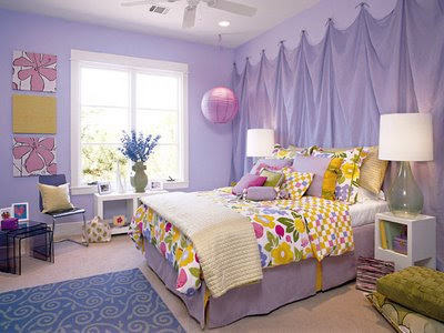 purple girls bedroom interior design for teens