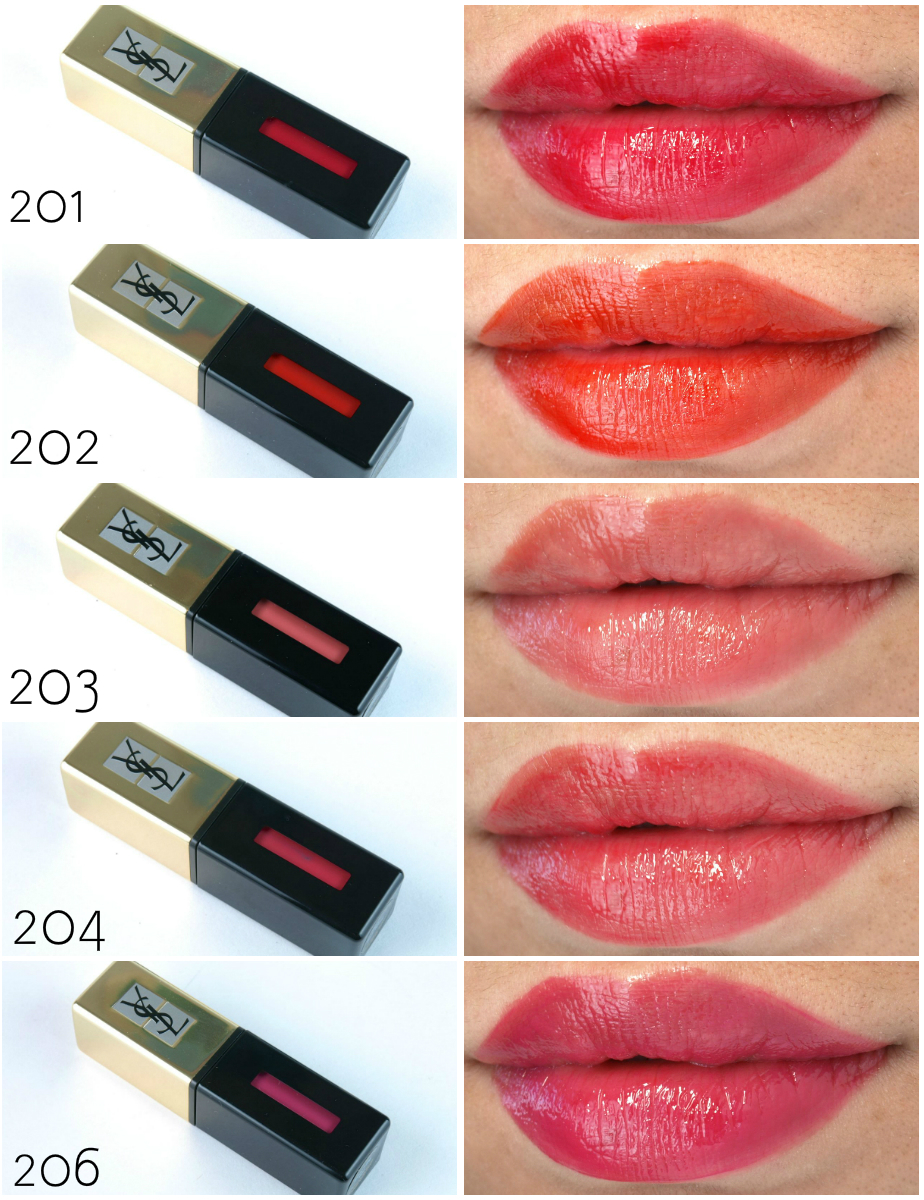 YSL Yves Saint Laurent Vernis A Levres Pop Water Glossy Stain: Review and Swatches