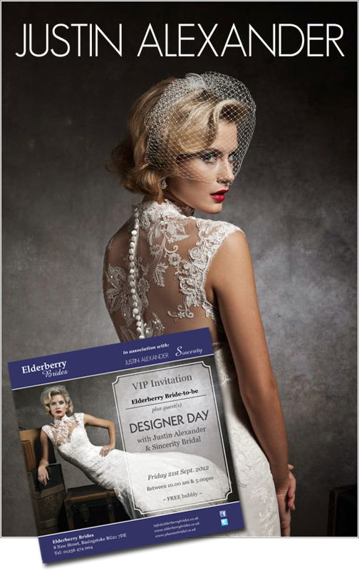 VIP invitation to our Justin Alexander and Sincerity Bridal Designer Days.