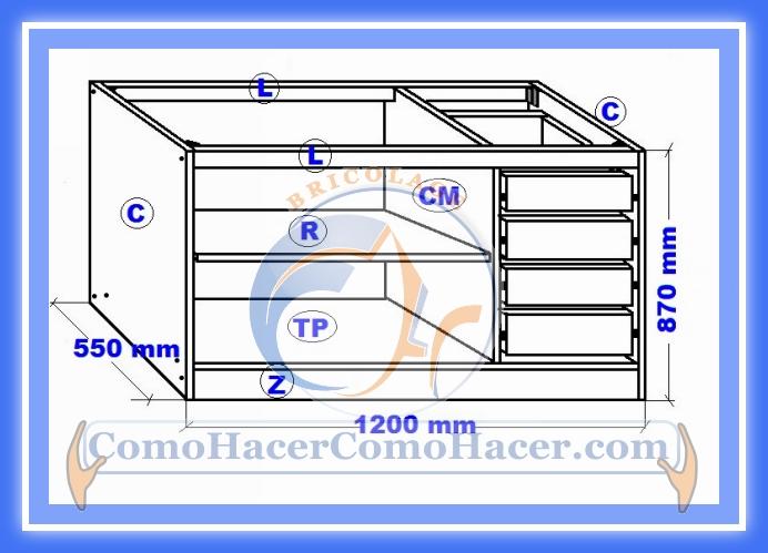 planos de muebles de cocina ideas de disenos