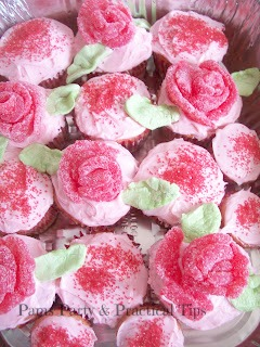 Flower Cupcakes made with gum drops