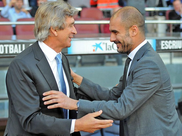 Pep Guardiola replace Manuel Pellegrini
