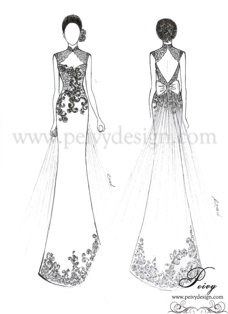 Wedding Gown Design Sketch 65