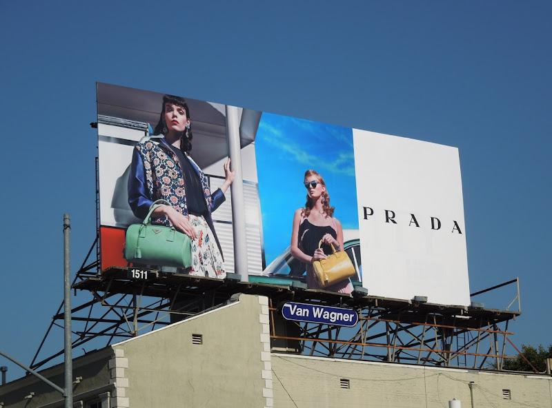 Prada 50's retro fashion billboard