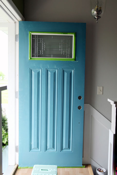 IHeart Organizing: June Monthly Challenge: We Painted the Front Door!