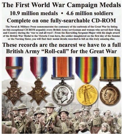 WW1 MEDAL ROLLS - ON CD ROM