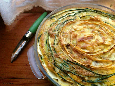 EASY & FANCY SWIRLED ZUCCHINNI TART- looks impressive, but it's oh-so-easy and can be made paleo & gluten-free
