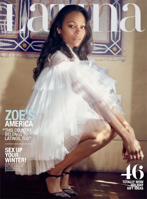 Actress @ Zoe Saldana - Latina Magazine December/January 2015