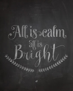LostBumblebee @2015 MDBN : All is Calm all is bright : Chalkboard Print : Donate to download : PRINTABLE Personal Use Only