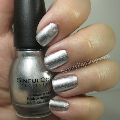 sinfulcolors Triple platinum swatch and review