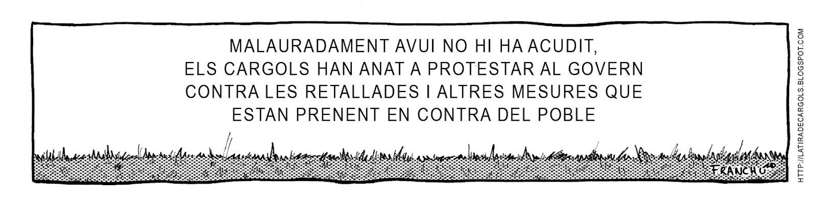 Tira comica 136 del webcomic Cargols del dibuixant Franchu de Barcelona