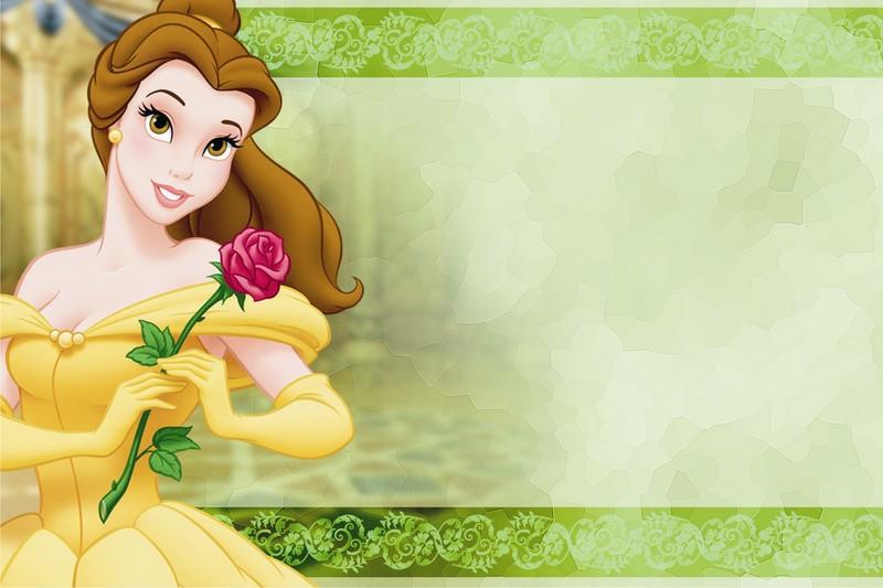 Tarjetas de Cumpleaños de las Princesas Disney.