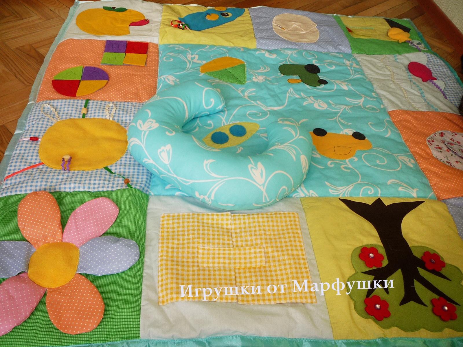 Выкройка развивающий коврик для детей своими руками 9