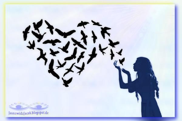 Symboliczna Wolność  i Miłość wysłana dalej