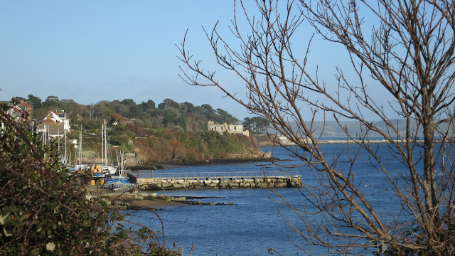 View towards Sandsfoot Castle.