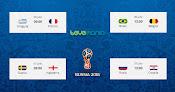 Mira todos los partidos de los Cuartos de final de  Rusia 2018