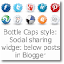 Bottle Caps style: Social sharing widget below posts in Blogger