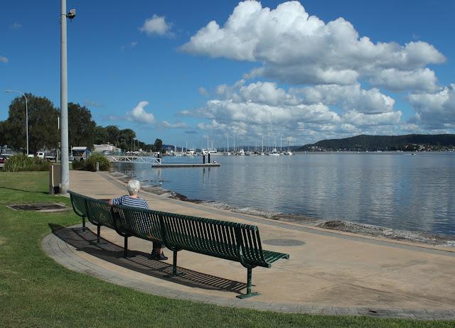 Seating along Gosford waterfront