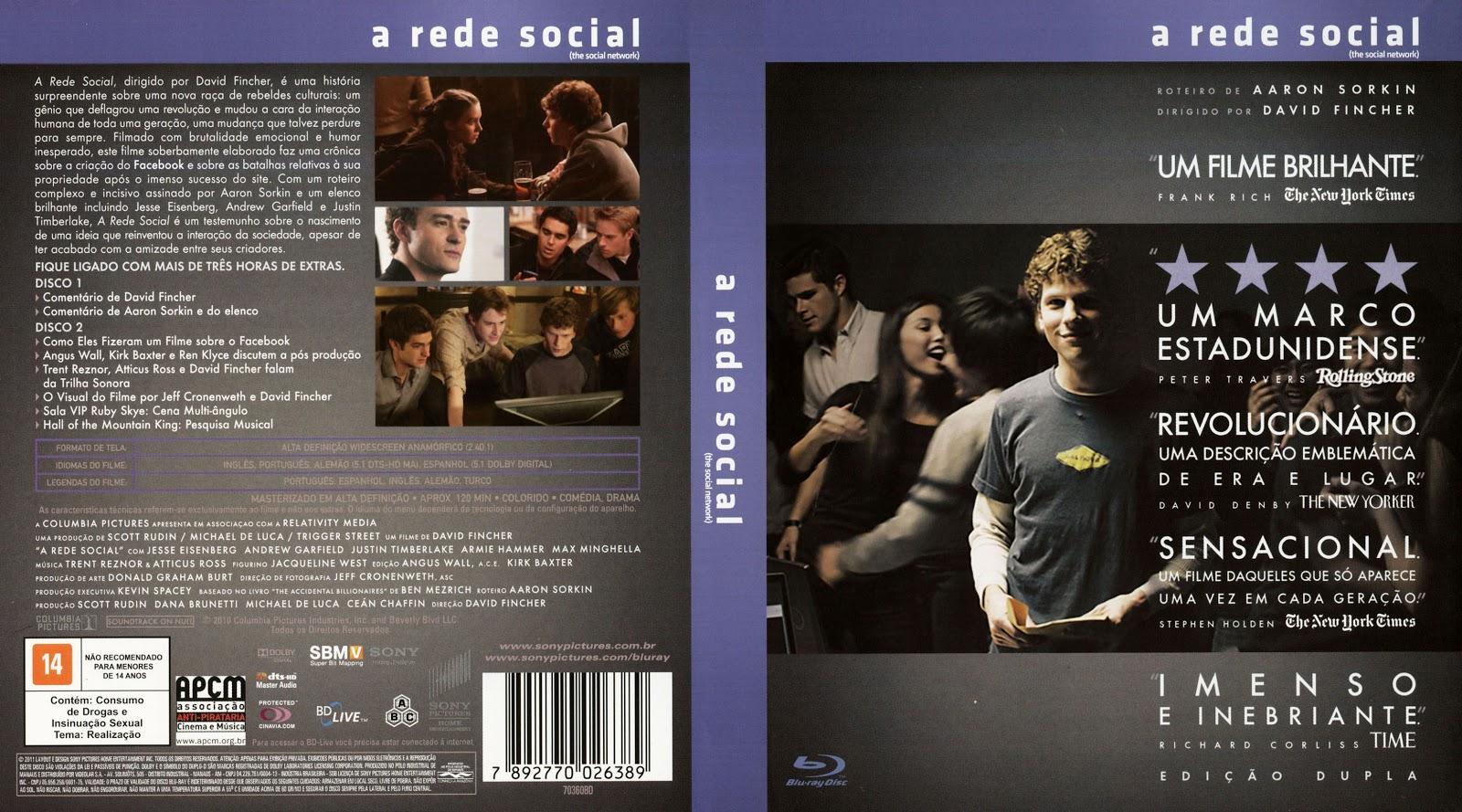 Capa Bluray A Rede Social