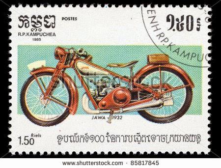 Znaczek pocztowy Jawa, z Kambodży