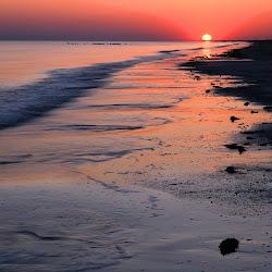 matahari terbenam, sunset