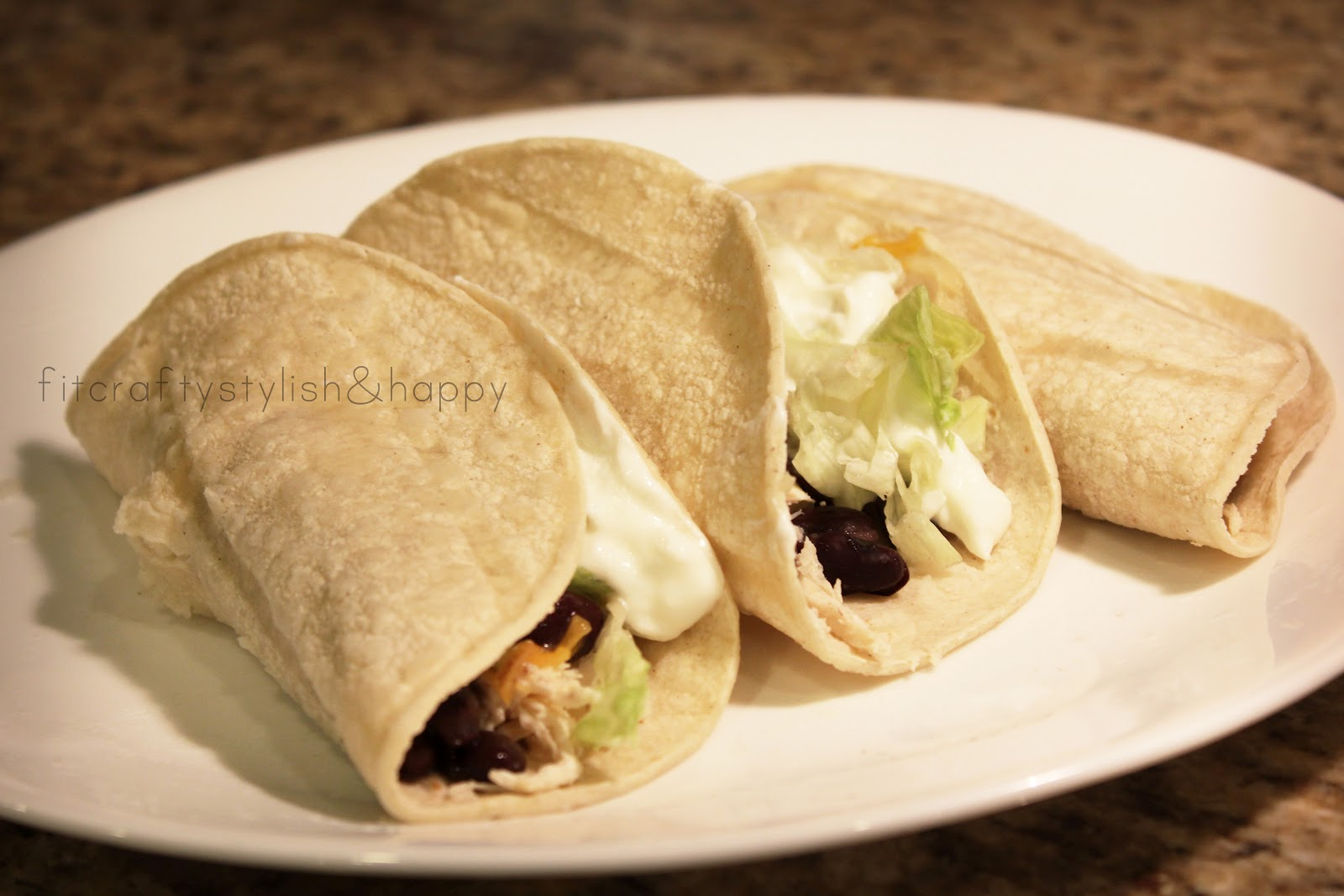 Fit, Crafty, Stylish and Happy: Chicken and Black Bean Tacos