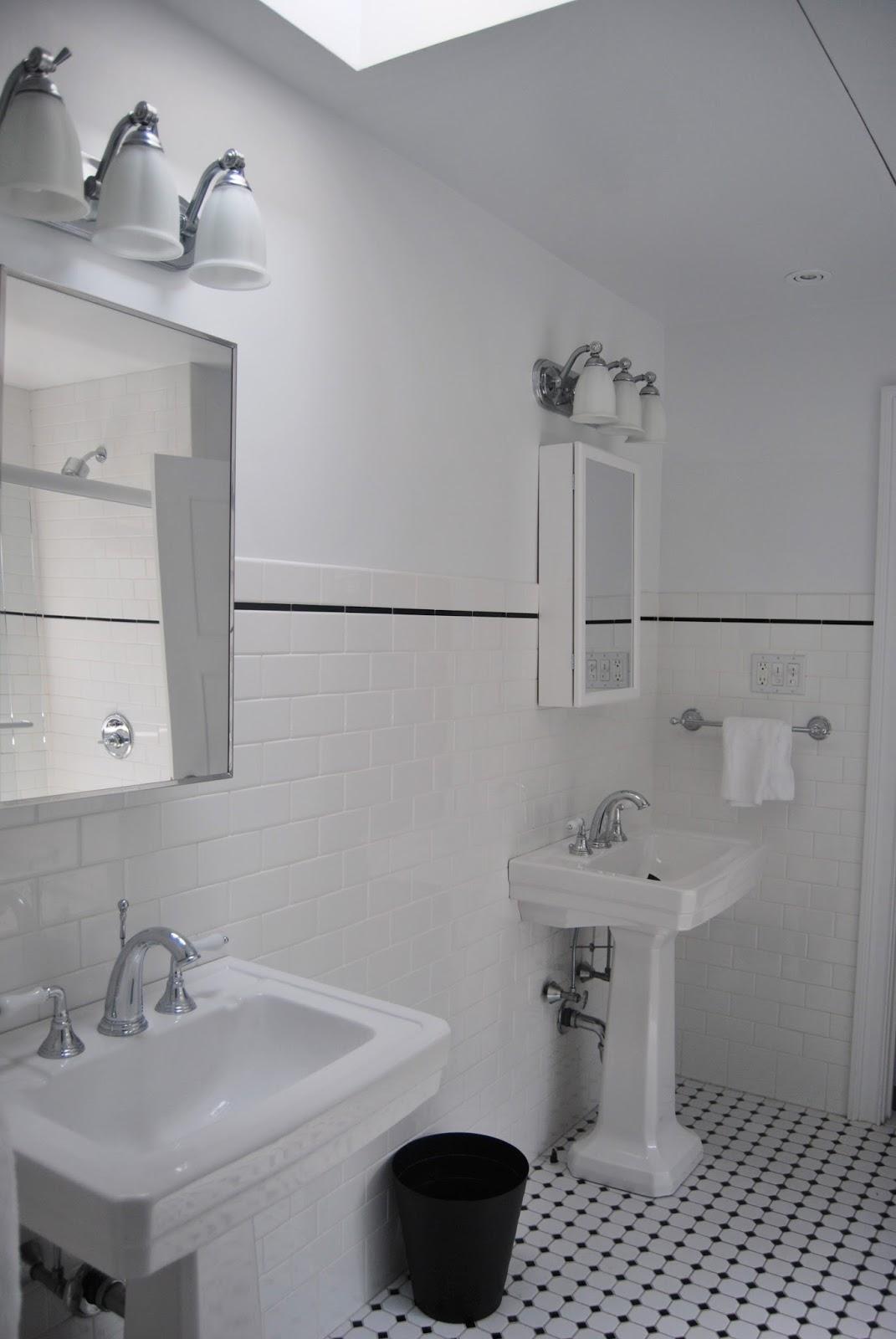 L'atelier du 23: salle de bain noir & blanc