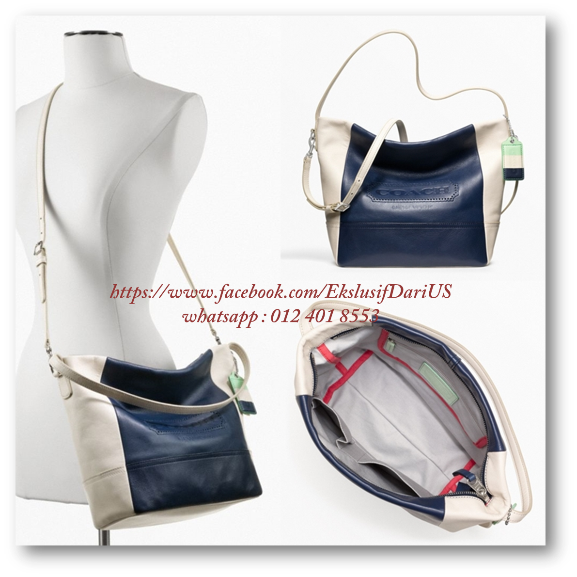 Legacy Weekend Colorblock Leather Shoulder Bag 120