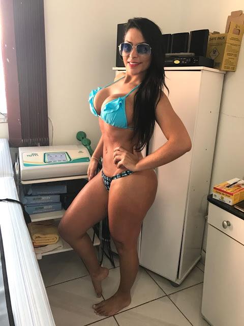 Ellen Santana cuida do bumbunzão em clínica de estética para o miss bumbum 2018