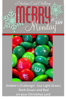 http://merrymondaychristmaschallenge.blogspot.co.uk/2015/08/mm-169-lt-green-dk-green-and-red.html