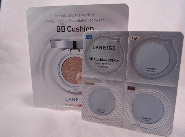 Laneige BB cushion sample
