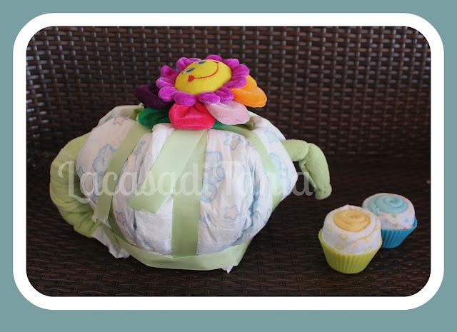 torta di pannolini teiera