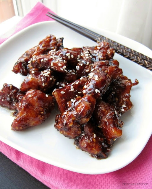 Sesame Chicken Recipe from Nomsies Kitchen