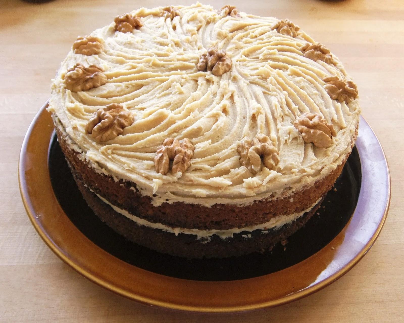 De La Bonne Bouffe Coffee And Walnut Cake For The Birthday Boy