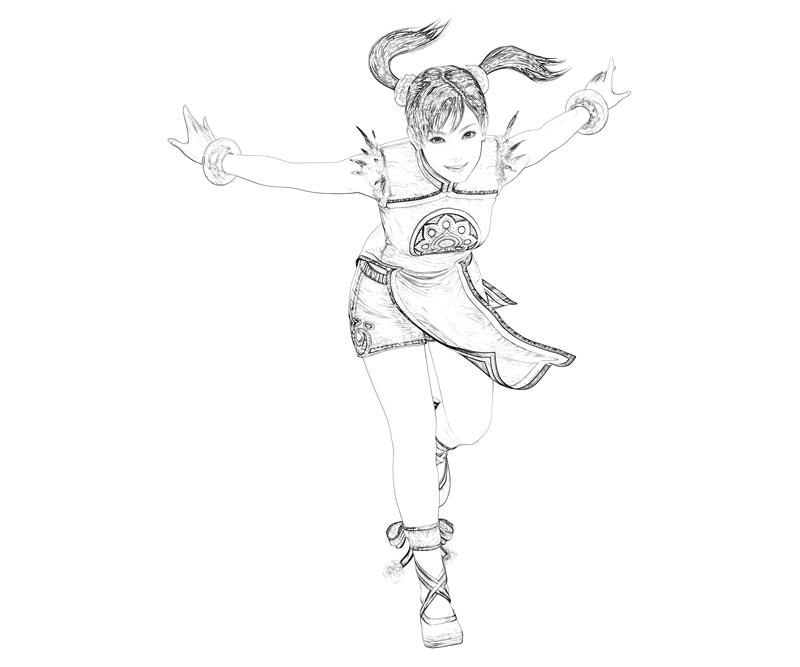 tekken-ling-xiaoyu-action-coloring-pages