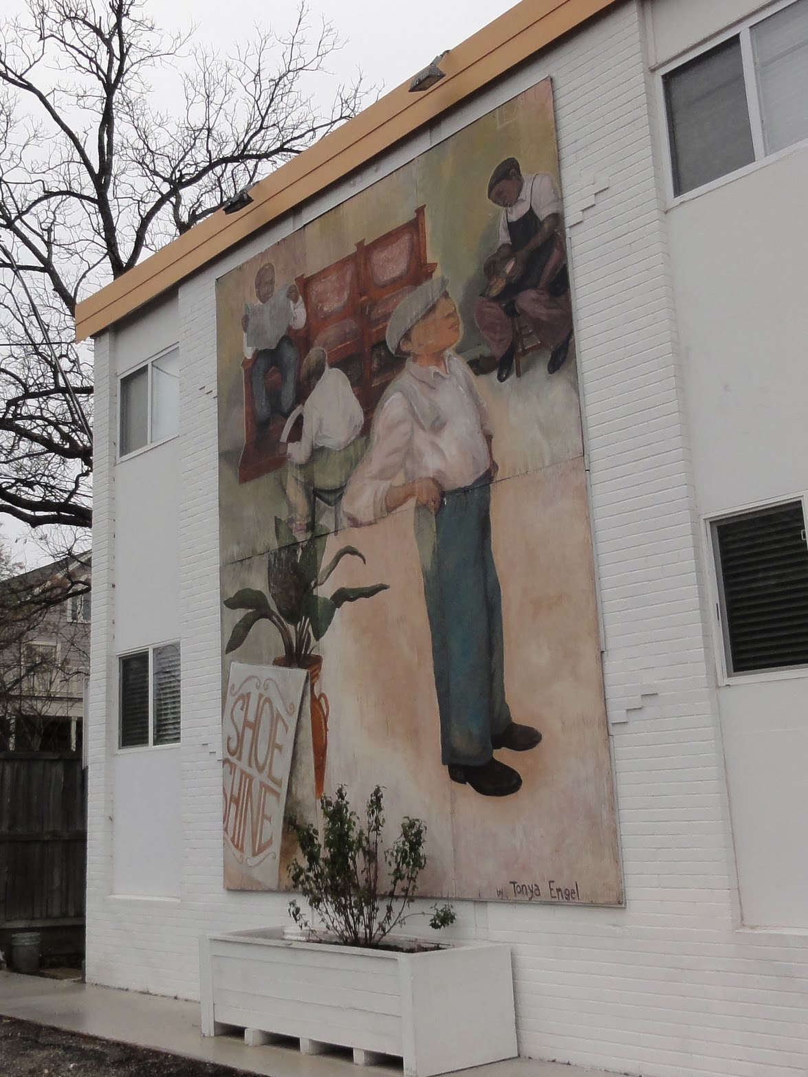 Autin Mural The Shoe Shiners: 1314 Rosewood Ave