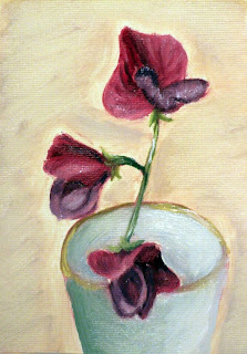 sweet pea in a glass painting