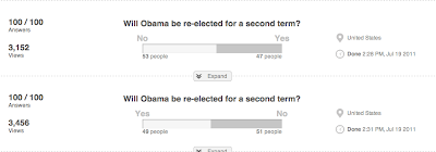 A more sane set of Obama results