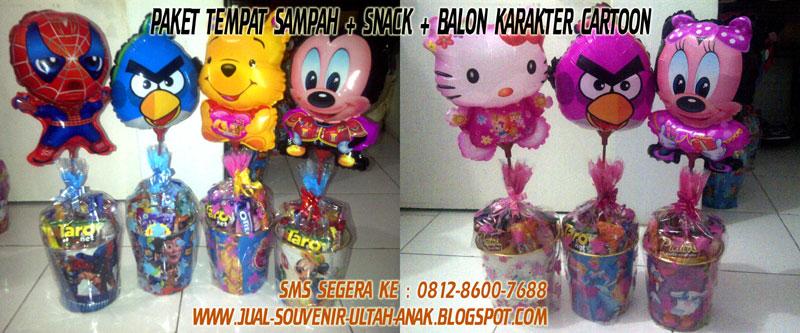 Souvenir+Ultah+Anak+Paket+Tempat+Sampah+dengan+Balon+Karakter+Cartoon Apa itu Souvenir ?